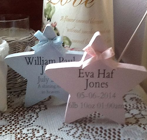 Freestanding Star Personalised New baby